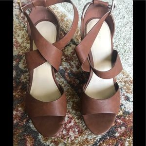 Forever 21 vintage looking strap  platform wedges